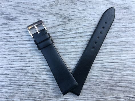 Handmade Leather Straps - handmade smooth soft leather black leather