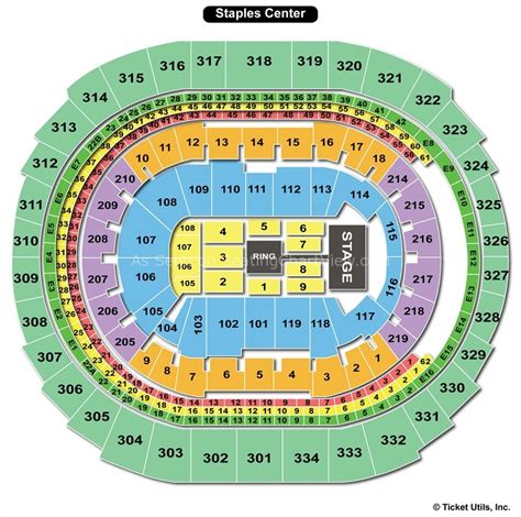 staples center map staples center los angeles ca seating chart view