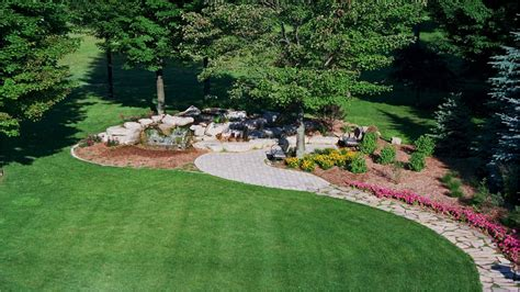 landscaping a large backyard patio landscaping designs large front yard landscaping
