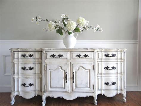 vintage hand painted antique white french provincial
