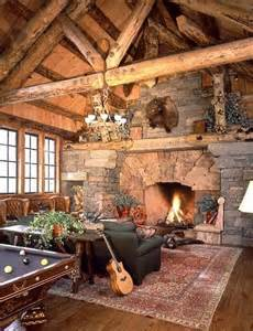 log cabin fireplace cabins the simple