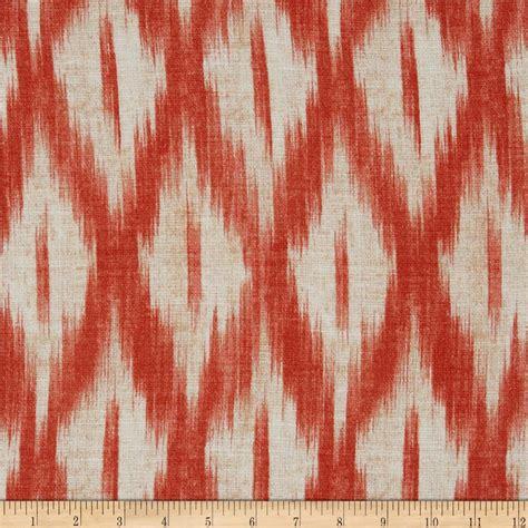 Poppy Upholstery Fabric Swavelle Mill Creek Tizia Ikat Poppy Discount Designer