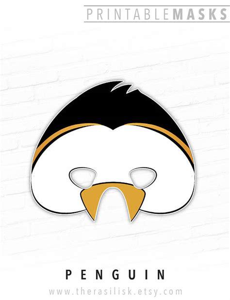 printable penguin eyes penguin mask king penguin emperor penguin mask bird mask