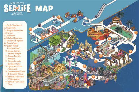 mall of america map sea aquarium at the mall of america bloomington mn