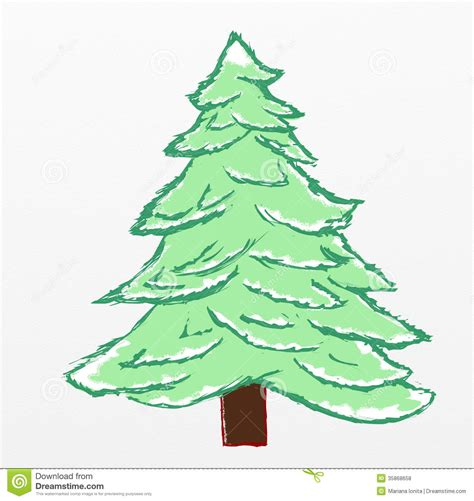 christmas tree sketch royalty free stock photos image