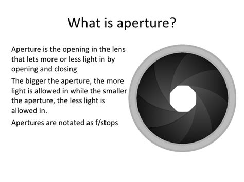 what is a one aperture presentation 1