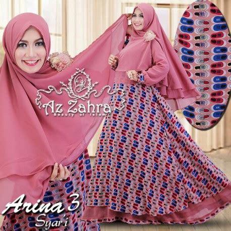 Arina Syar I Purple arina pink baju muslim gamis modern