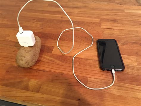 how to recharge in mobile mobile charging with a potato
