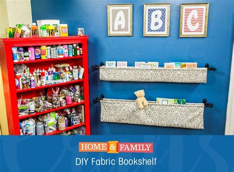 1000 ideas about fabric bookshelf on