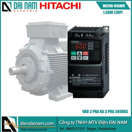 Hitachi Hfc Vws Ac Motor Frequency Inverter 3 Phase 380 V 25kw Baru inverter hitachi wj200 015hfc 1 5kw 2hp input 3 phase 380vac