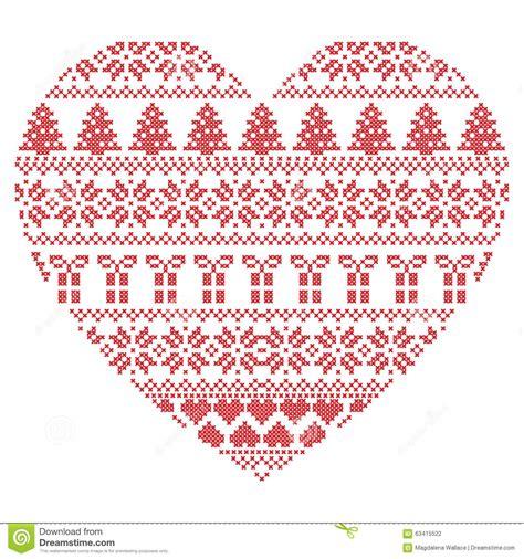 christmas pattern we heart it scandinavian nordic winter stitch knitting christmas