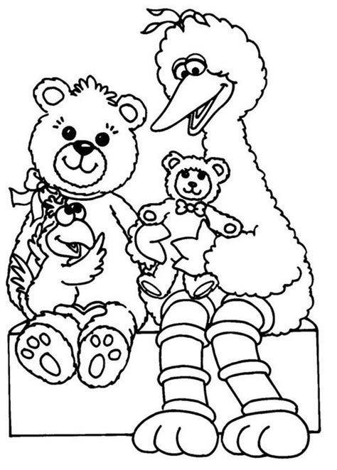 coloring pages of big bird to print sesame street coloring pages bestofcoloring com