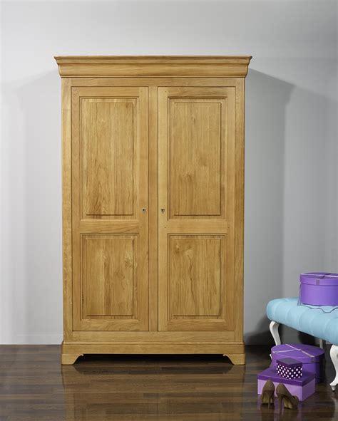 armoire chene massif 2 portes armoire 2 portes st 233 phane en ch 234 ne massif de style louis