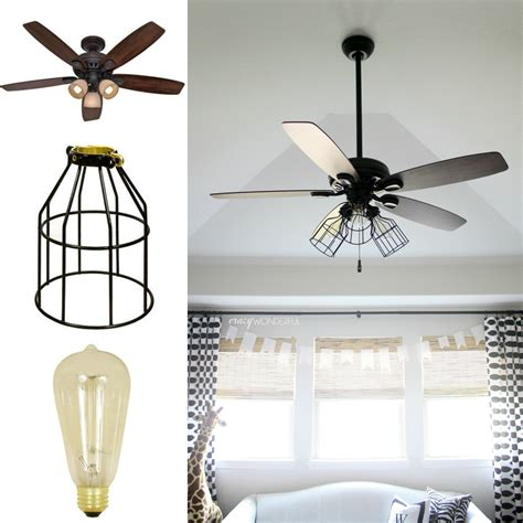 ceiling fan with hanging light diy cage light ceiling fan 183 a hanging light 183 home diy