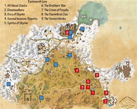 biography lore book locations eso eastmarch lorebooks guide dulfy
