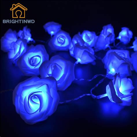 Holiday 2 2m 20 Led Battery Operated Rose String Light For Battery Operated 20 Led String Lights