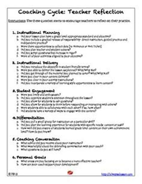 1000 Images About Printables On Pinterest Preschool Programs Preschool And Literacy Coaching Reflection Template