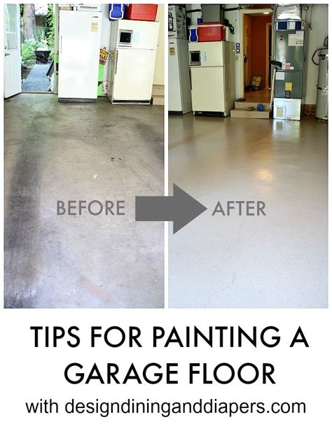 painting  concrete garage floor