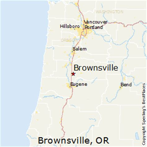 brownsville oregon map best places to live in brownsville oregon