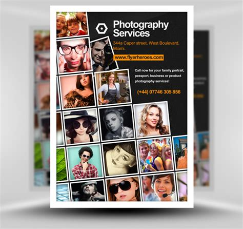 photo flyer template free photography flyer template 2