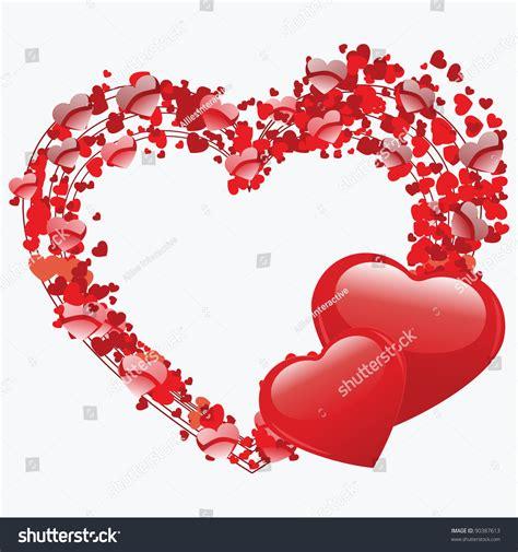 heart shape concept design small hearts stock vector