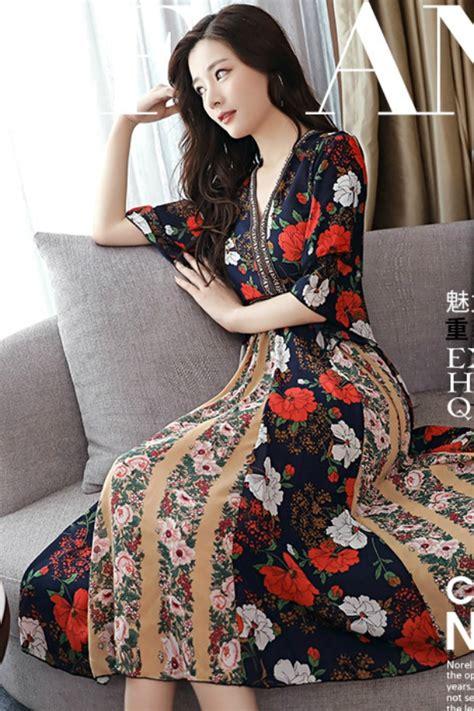 Gaun Dress Zara Putih Motif Bunga dress chiffon dress cantik korea dress korea motif