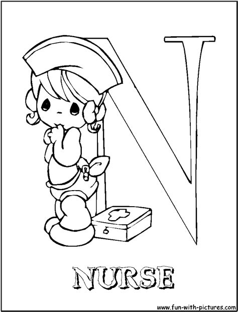 coloring pages for nurses free coloring pages of n for
