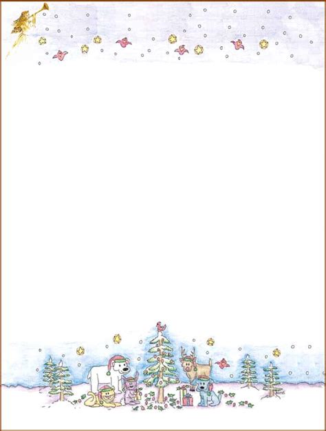 printable christmas border paper free 7 best images of free printable christmas stationary