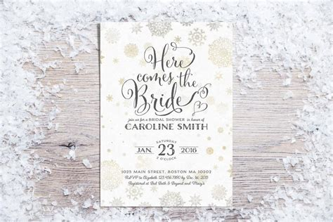 winter themed wedding shower invitations printable bridal shower invitations winter bridal shower invitation bridal shower