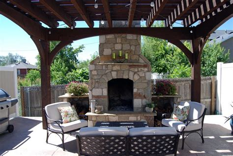 pergola with fireplace add element of with outdoor fireplace diy pergola
