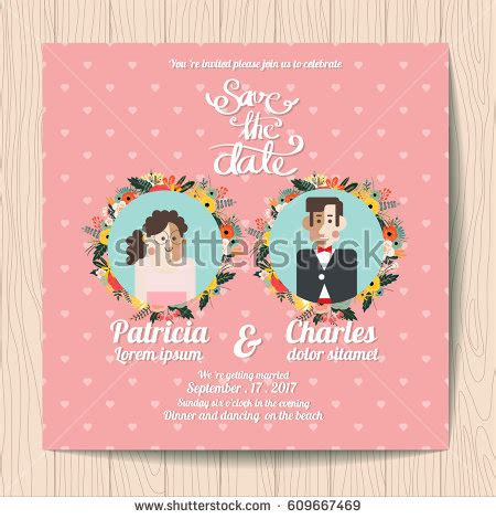 Wedding Invitations Characters by Wedding Invitation Card Templates Character Stock