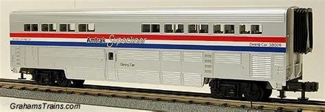 mth 30 6501 amtrak superliner sleeper car dining car