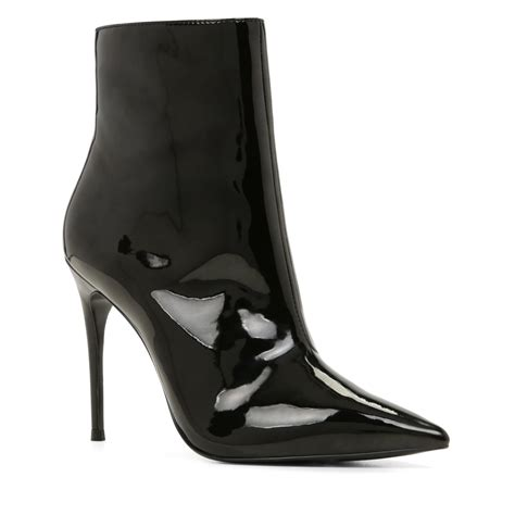 toe high heel boots lyst aldo areicia high heel pointy toe ankle boots in black