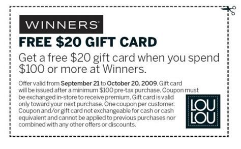 printable gift cards canada winners canada 20 gift card from loulou canadian
