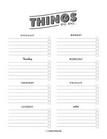 weekly to do list template pdf to do list template