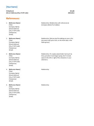 9 job application references example ledger paper