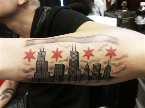 chicago tattoos designs chicago skyline chicago skyline
