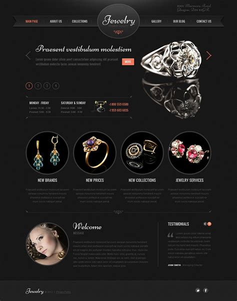 Jewelry Wordpress Themes Free Premium Templates Jewellery Web Templates