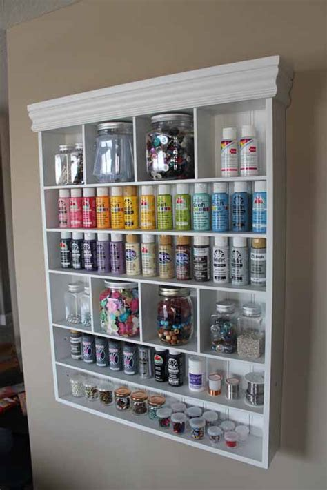 Craft Shelf by Craftaholics Anonymous 174 S Designs Craft Room Tour