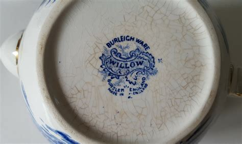 willow pattern en francais vintage burleigh ware china willow pattern tea pot jug