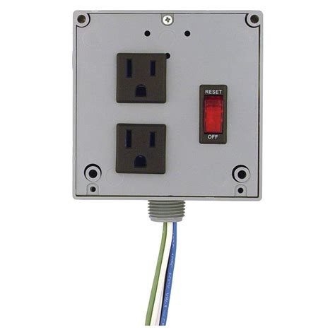 enclosed circuit breaker switch outlet combo