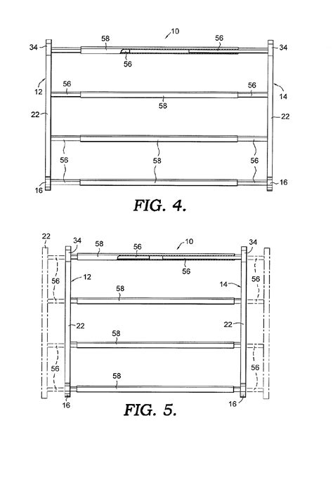 patent us7249679 expansible shoe rack patents