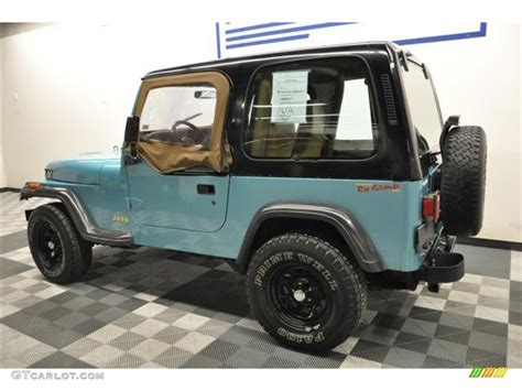 teal jeep 1995 teal pearl jeep wrangler s 4x4 62758206 photo 5
