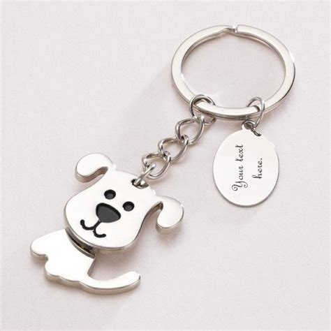 when can you feel puppies move in moving key ring with engraving charming engraving