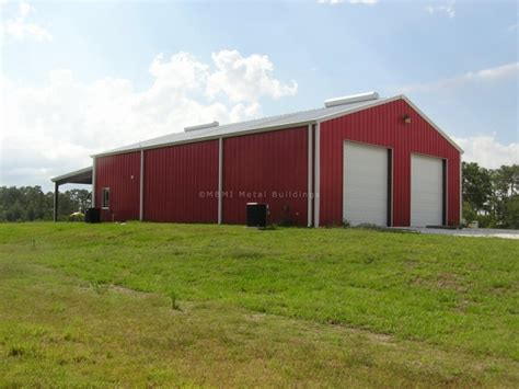 Awnings Bradenton Fl by Steel Barn With Attached Steel Canopy In Bradenton Fl