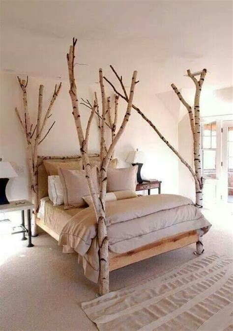 tree branch bed frame house