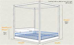 Lower Bed Frame Height Low Four Poster Bed