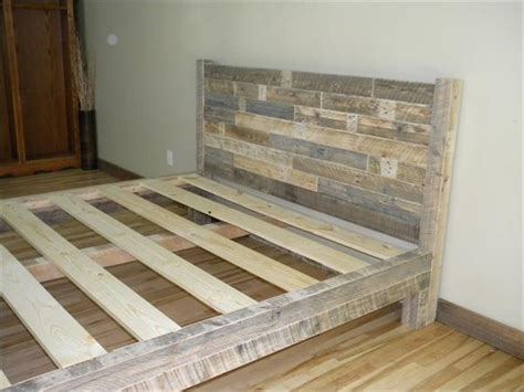 King Size Bed Frame Diy How To Make A Platform Bed Frame With Pallets Woodworking Projects