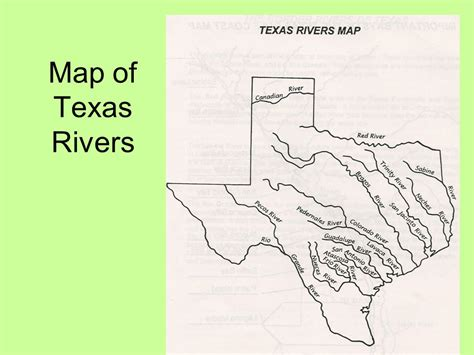 map of texas rivers chapter 3 mapping texas regions pages 44 66 ppt