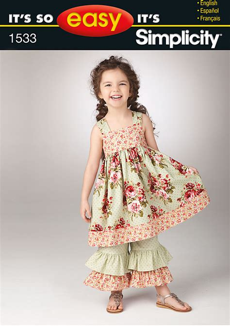 simplicity pattern website simplicity 1533 it s so easy child s dress and pants
